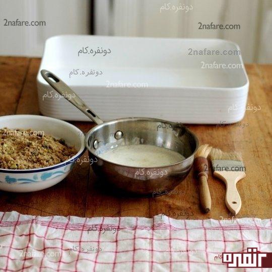 مواد لازم برای تهیه باقلوا