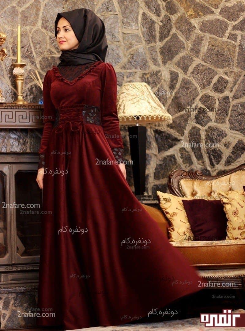 لباس مجلسی پوشیده بلند
