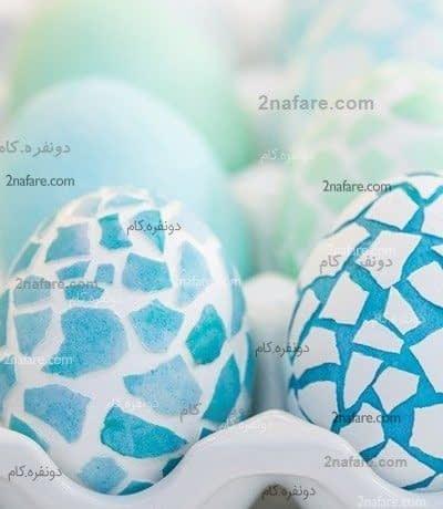 تخم مرغ رنگی با طرح مزاییک