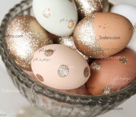 تزیین هفت سین با تخم مرغ اکلیلی