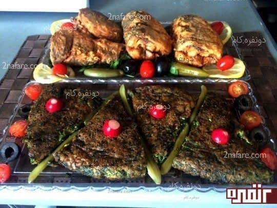 طرز تهیه کوکو سبزی و ماهی سفید