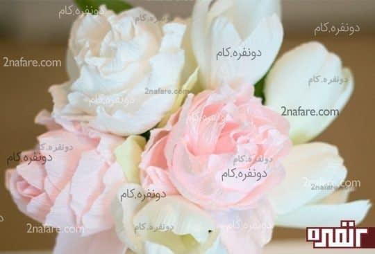 گل با کاغذ کشی