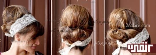 مدل موی کندو با تزئین تل توری
