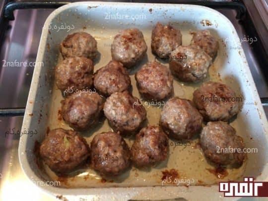 گوشت قلقلی تفت داده شده