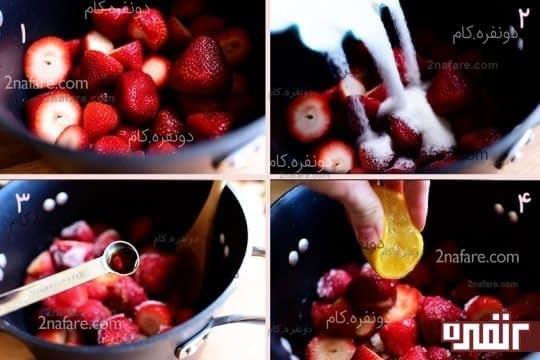طرز تهیه سس توت فرنگی
