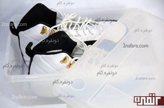 جعبه ی پلاستیکی برای نگهداری کفش ورزشی