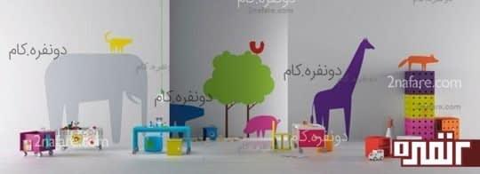 طرح های شاد برای دیوار اتاق کودک