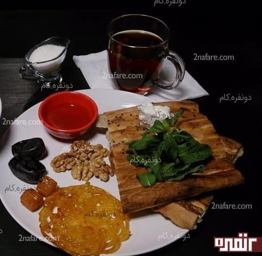 صبحانه ی ایرانی، ترکیبی از مواد خوراکی مقوی و سالم