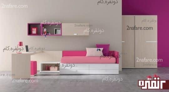 قفسه دیواری اتاق خواب کودک