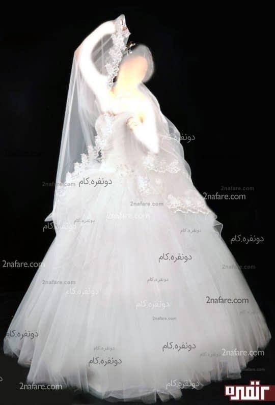 لباس عروس تور طرح مینا