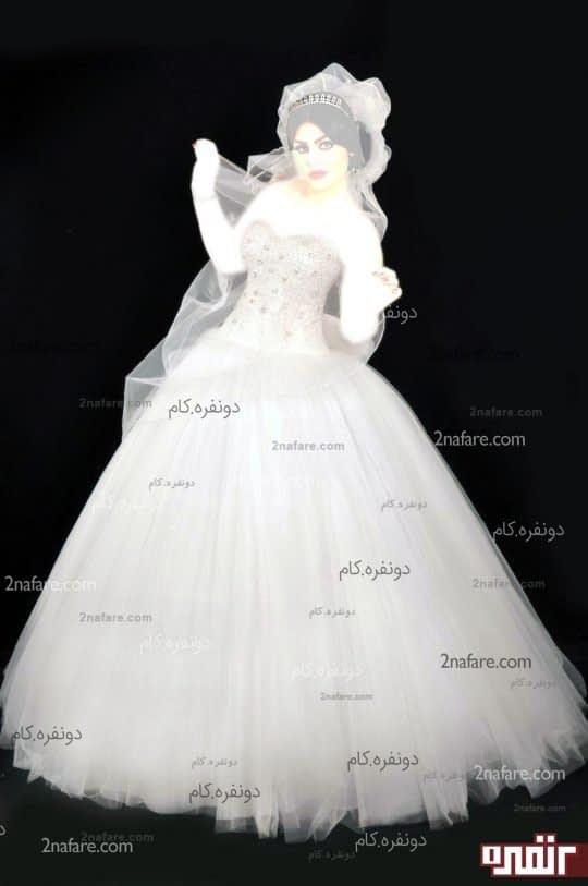 لباس عروس تور طرح نگین