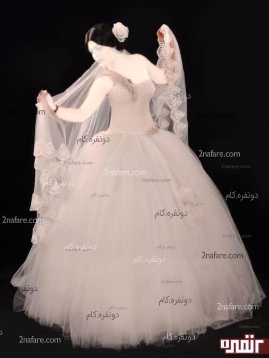 لباس عروس طرح ستاره