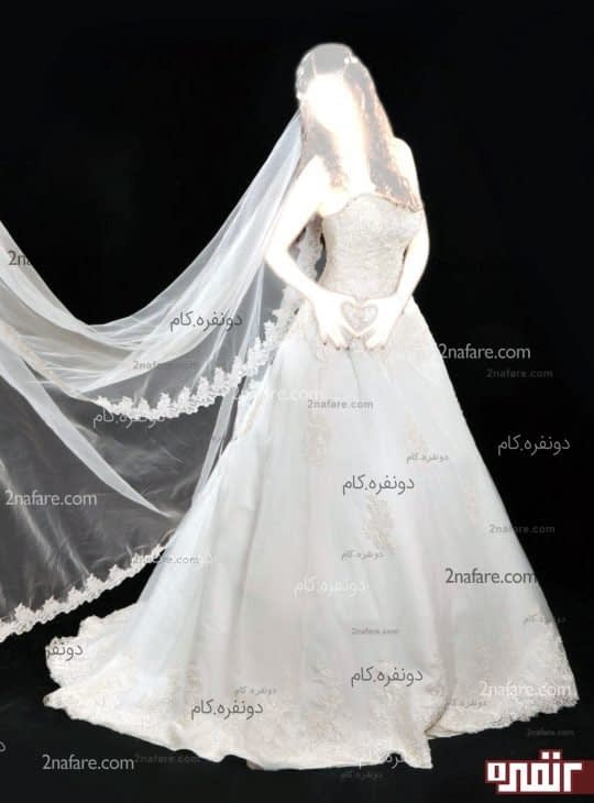 لباس عروس گیپور طرح بهار