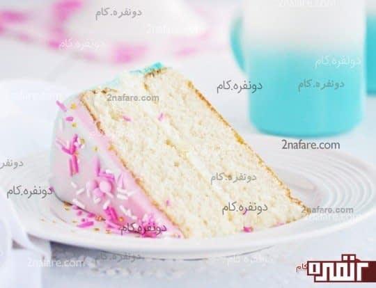 مراحل تهیه کیک وانیلی