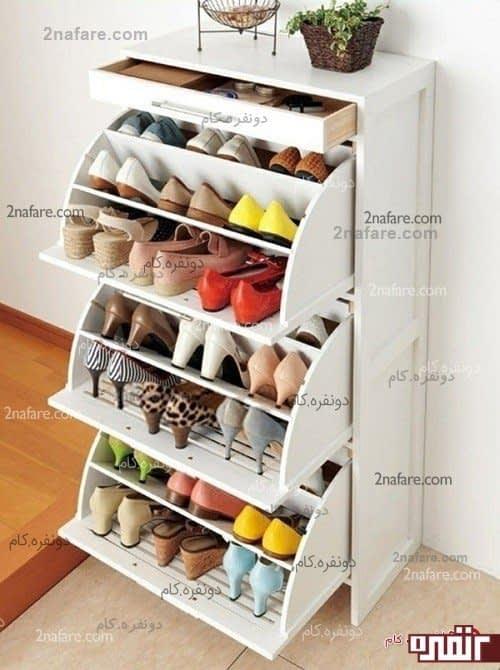کابینت کفش، طرحی فوق العاده برای  نگهداری کفش ها