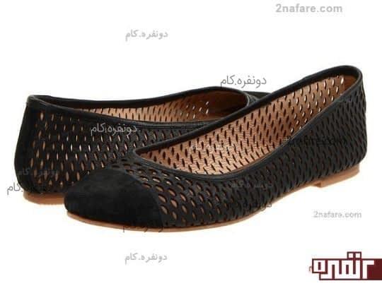 کفش عروسکی سوراخ سوراخ، طرحی مناسب برای تابستان