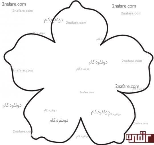 الگوی گلبرگ گل تزئینی با چرم
