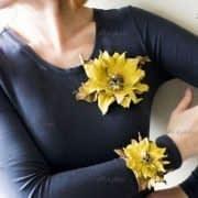 آموزش ساخت گل تزئینی با چرم