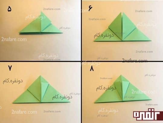 آموزش قورباغه اوریگامی