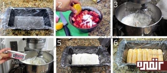 طرز تهیه تیرامیسو توت فرنگی
