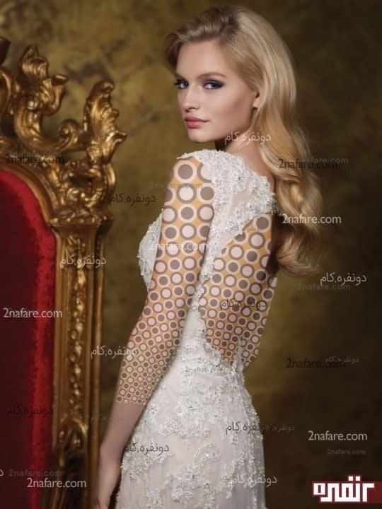 لباس عروس بدون پف و پشت باز