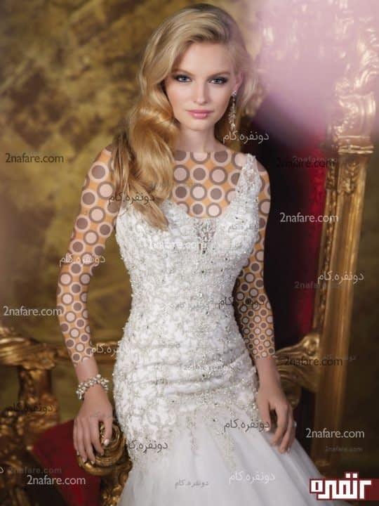 لباس عروس بدون پف