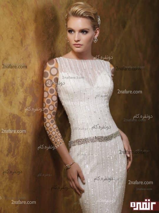 لباس عروس بدون پف 2015