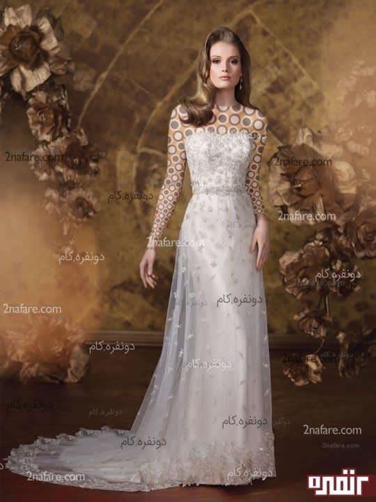 لباس عروس زیبای بدون پف