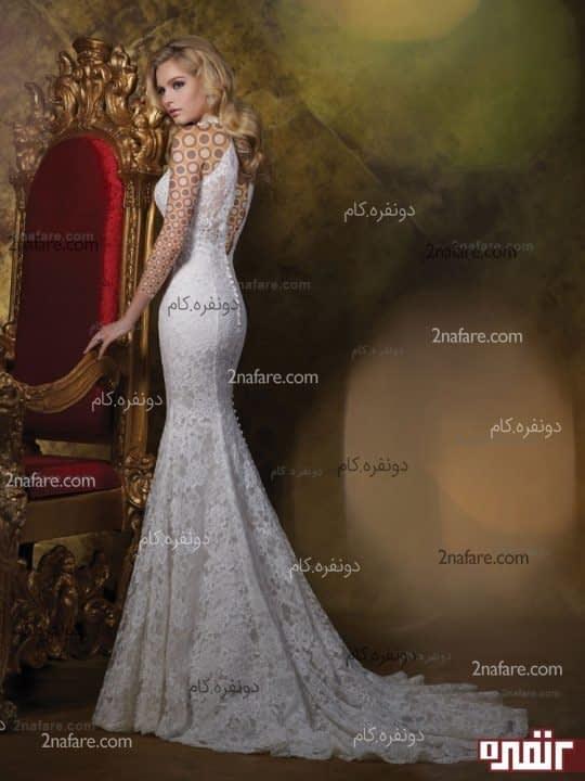 لباس عروس زیبا و بدون پف