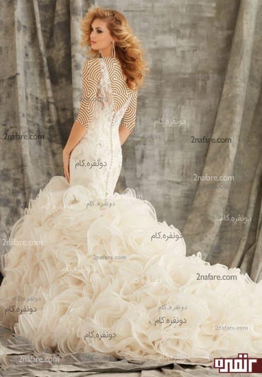 مدل جدید لباس عروس دنباله دار