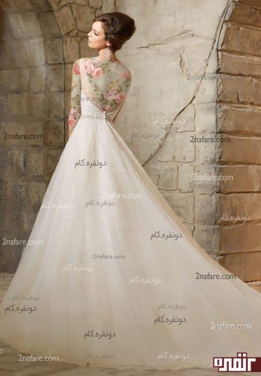مدل زیبای لباس عروس دنباله دار