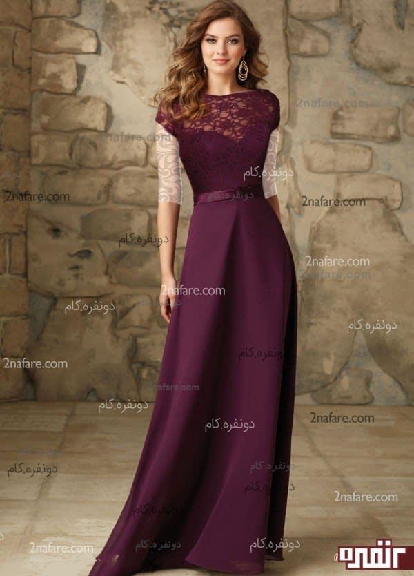 مدل لباس مجلسی بلند با کرپ باربی