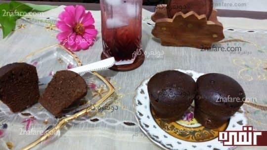 کیک فنجونی بدون فر