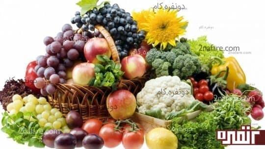 مصرف میوه و سبزیجات راهی موثر در کاهش تعریق بدن