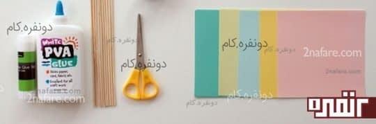 وسایل مورد نیاز برای ساخت گل کاغذی به روش اوریگامی