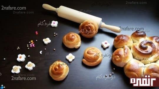 طرز تهیه نان صبحانه ی شیرین به سبک سینی رز