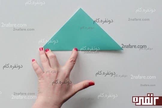 اولین تای ساخت گل کاغذی اوریگامی