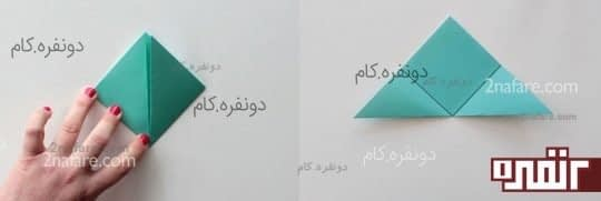 ساخت گل کاغذی به روش اوریگامی