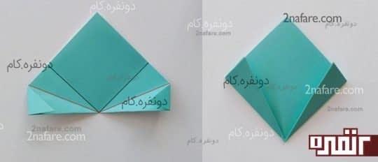 آخرین تای ساخت گل کاغذی اوریگامی