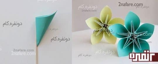 گل کاغذی اوریگامی