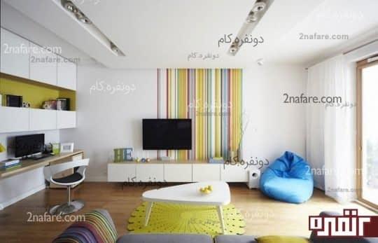 رنگ یکی از دیوارها را تغییر دهید