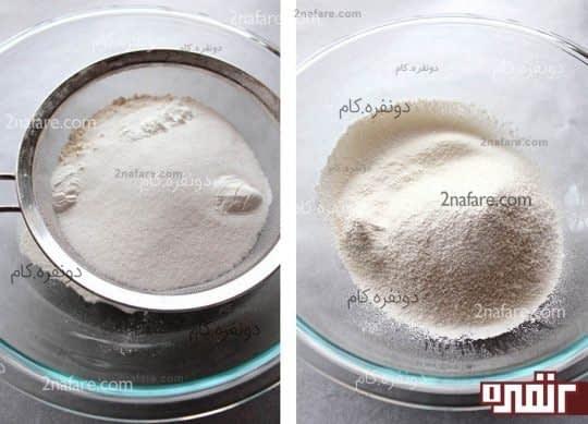 الک کردن مواد خشک