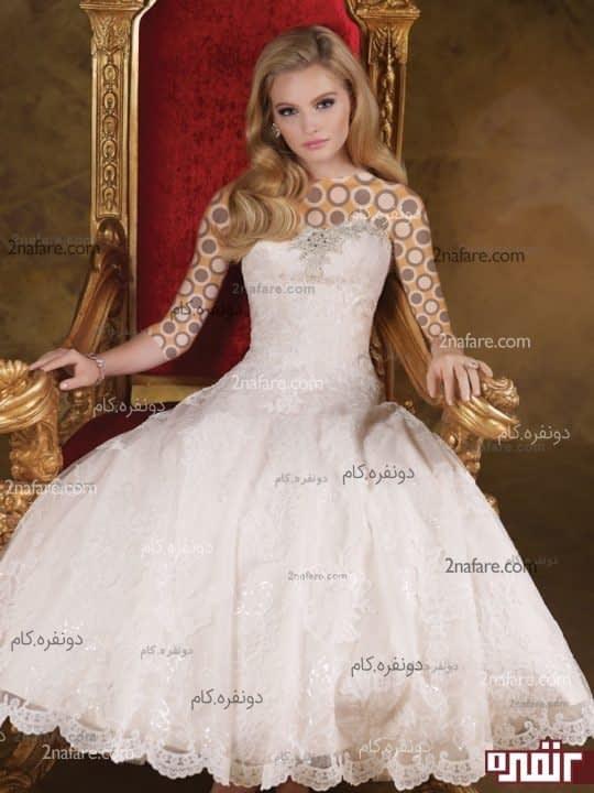 لباس عروس کوتاه پفی
