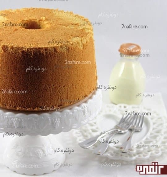 کیک شیفون لیمویی