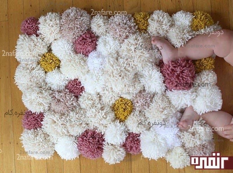 آموزش بافت فرشینه با تور بافت فرش کاموایی به صورت مرحله به مرحله • دونفره