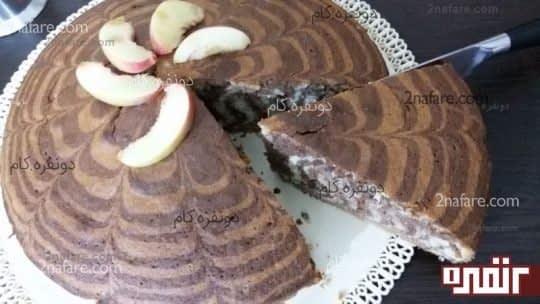 طرز تهیه ی زبرا کیک