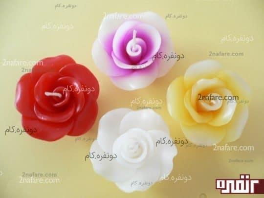 آموزش ساخت شمع گل رز بصورت مرحله به مرحله