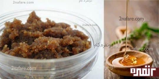 شکر قهوه ای لایه برداری طبیعی برای پوست
