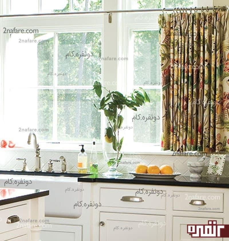 مدل پرده های مدرن و زیبا برای آشپزخانه سری دوم دونفره