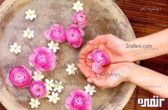 پاک کنندگی پوست با استفاده از گلاب و گلیسیرین